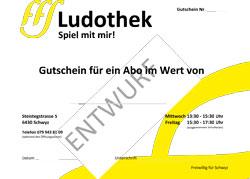 FFS Ludothek Schwyz Gutschein